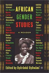 AFRICAN GENDER STUDIES A READER Edited by Oyeronke Oyewumi